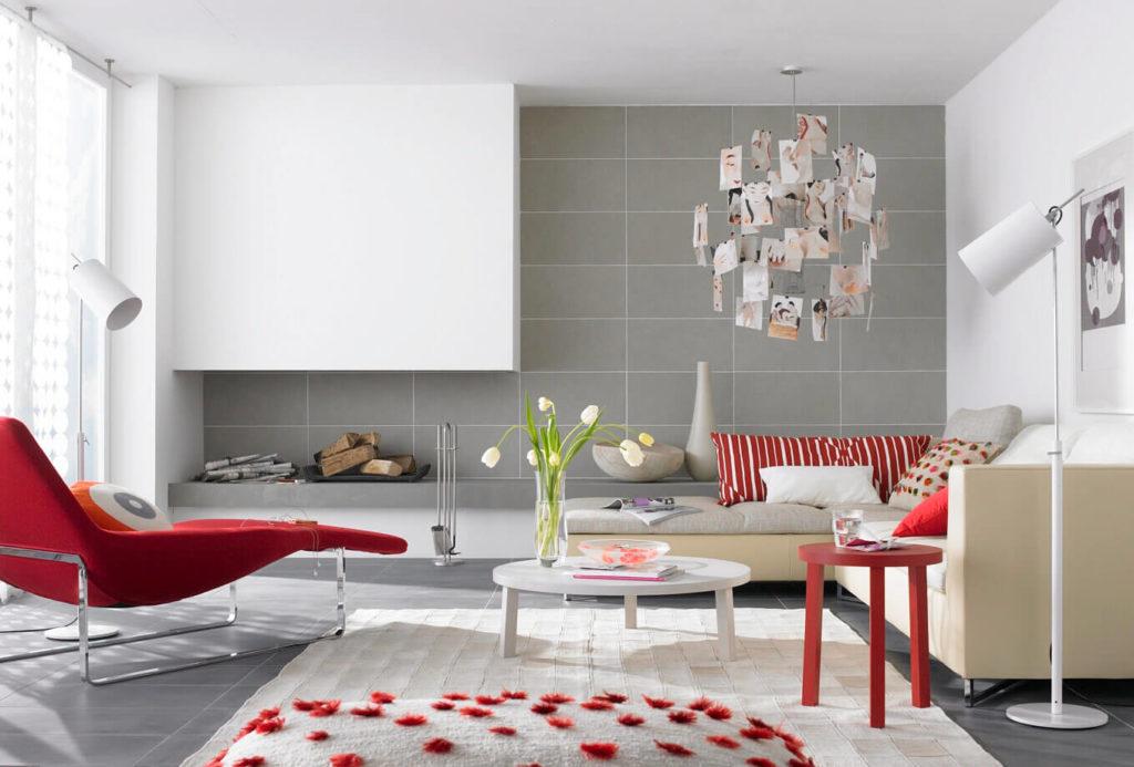 Rotes Wohnzimmer Design Thomas Kühl